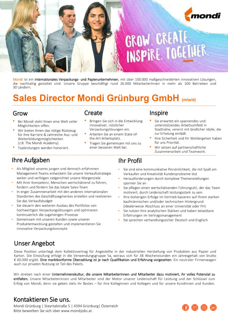 Sales Director Mondi