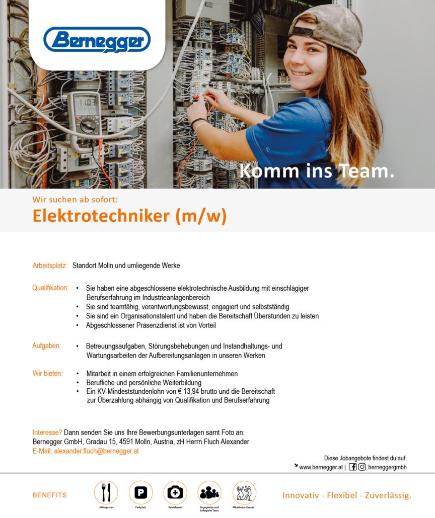 Stelleninserat Elektrotechniker2 1